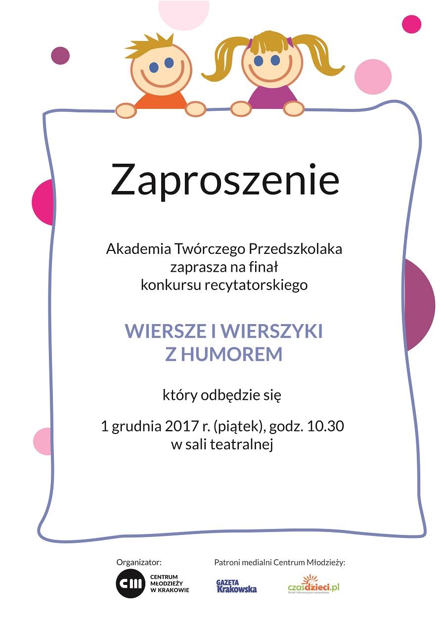 Finał Konkursu Recytatorskiego Wiersze I Wierszyki Z